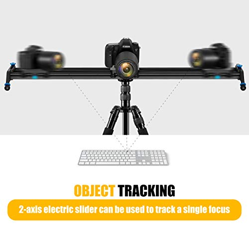 GVM Motorized Camera Sliders Track Dolly with Time Lapse Tracking and Wider Angle Video Stabilizer, Black 48