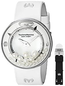 TechnoMarine Unisex 813003 AquaSphere Crystal Authentic Pearls Dial Watch Set image