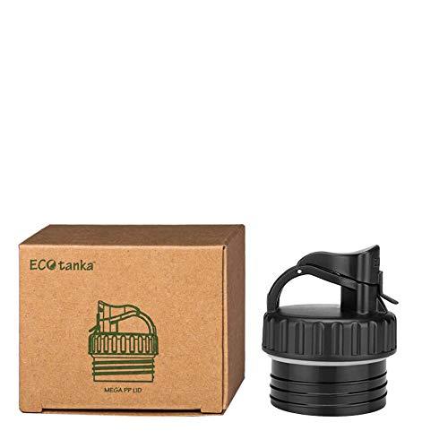 ECOtanka megaTANKA 2L Edelstahl Trinkflasche BPA frei inkl. Ersatzdichtungs-Service - auslaufsicher, spülmaschinengeeignet, kohlensäuregeeignet, langlebig(Ersatzverschluss Poly Loop Verschluss)