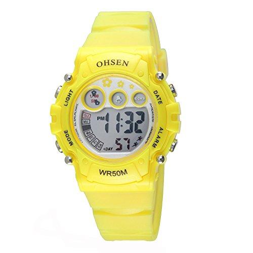 Reloj amarillo Infantil Deportivo Digital