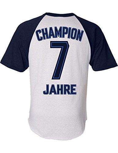 Geburtstags Shirt: Champion 7 Jahre - Sport Fussball Trikot Junge T-Shirt für Jungen - Geschenk-Idee zum 7. Geburtstag - Sieben Siebter Jahrgang 2013 - Fußball Club Fan Stadion Mannschaft (128)