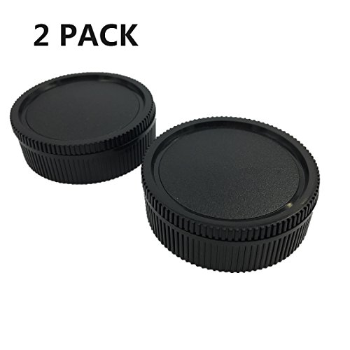 LXH Camera Front Body Cap & Rear Lens Cap Cover Kit for Leica R LR Mount Lenses Fits Leica R3 / R4 R5 / R6 / R7 / R8 / R9 / Leicaflex SL/Leicaflex SL2 SLR/R, Rom, One-Cam, Two-Cam, Three-Cam