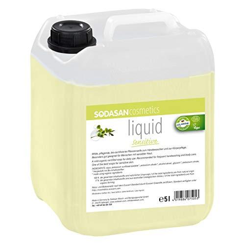 SODASAN LIQUID sensitive Bio Seife 5 Liter Kanister - ökologisch und umweltfreundlich (Flüssigseife bio)