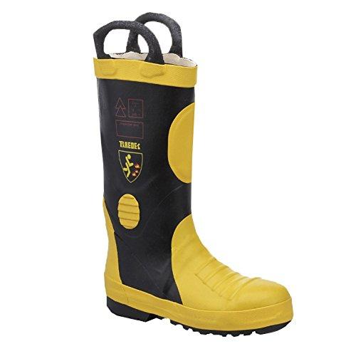 Paredes sp5034ne-am45bota aislante–Zapatos de seguridad SBP talla 45NEGRO/AMARILLO