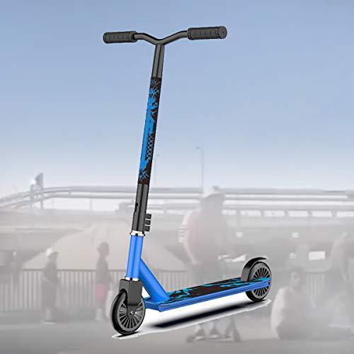 Truco Genial Carros,Deportes Extremos Scooters Dos Ruedas Scooters de Pedales con Giratorio 360°/FáCil de Operar/Helado/Antideslizante,para NiñOs Adolescentes,Nylon Core Wheel Blue