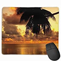 """Summer Sunset Mouse Pad Non-Slip Rubber Gaming Mouse Pad Rectangle Mouse Pads for Computers Desktops Laptop 9.8"""" x 11.8"""""""