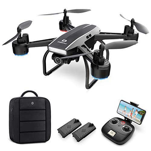 DEERC Drohne mit Kamera 1080P FHD Live Übertragung 120° Weitwinkel,RC Quadrocopter mit 2 Batterien...