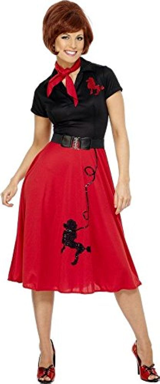 Werder 50er Jahre Pudel Kostüm - rot und schwarz B07PGQ9P3Q Elegantes Aussehen  | Qualität und Quantität garantiert