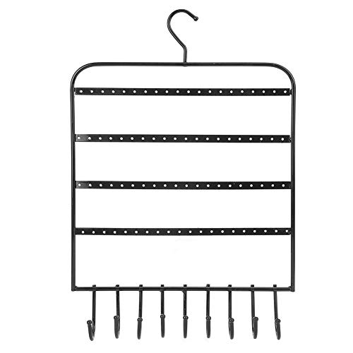 Estante de joyería de alta calidad, estante de exhibición adecuado para colgar en la pared para organizar collar para el hogar para el estudio para la escuela de por vida (negro)