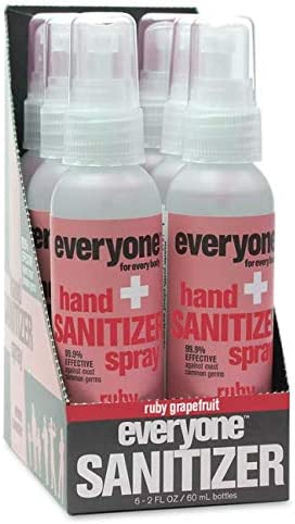 Everyone Hand Sanitizer Spray Ruby Grapefruit 2 Ounce 6 Count product image