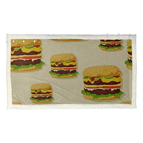 Comida rápida hamburguesa deliciosa manta para niños ponible mantón de abrigo para mujer 53x30 pulgadas con 3 botones para sofá al aire libre mantones y envolturas para mujer siesta
