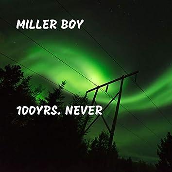 100yrs. Never