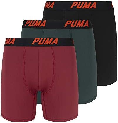 PUMA Men s Volume Boxer Brief 3 Pack Dark red Medium product image