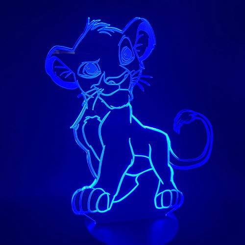 Lampe Illusion 3D, Lampe De Table Smart Touch, Lampe De Chevet (Roi Lion)