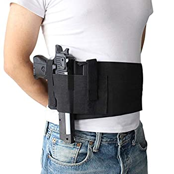 Belly Band Holster for Concealed Carry Multifunction Gun Holsters for Men Women Waist Holster for Glock Ruger LCP S&W M&P 40 Shield Bodyguard Ruger Kahr Beretta 1911 & Similar Guns