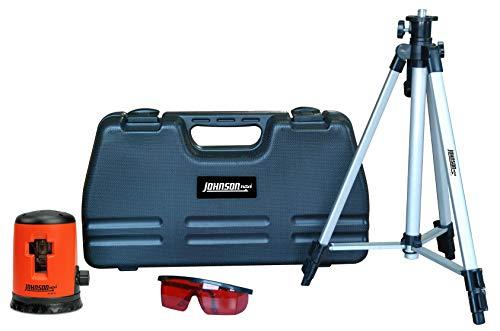 Johnson Level 40-0921 Self-Leveling Cross Line Laser Level Kit, Horizontal and Vertical Lasers