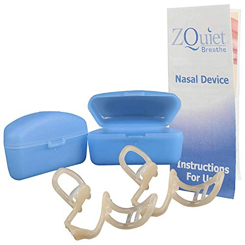 ZQUIET Breathe Anti-Snoring Nasal Dilator Breathe Aid with Storage Case (2ct. - 30 Day Supply) - Natural, Simple, Comfortable Snoring Solution to Increase Airflow and Relieve Sinus Congestion