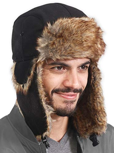 Trapper Hat - Winter Trooper Aviator Earflap Eskimo Hat - Fits Men & Women