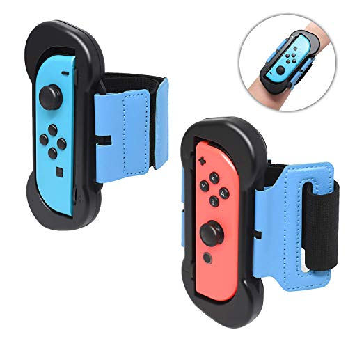 FYOUNG Muñequeras Dance Band para Just Dance 2020 Switch y Zumba Burn It Up Switch, 2 Correas Brazalete Elástico Ajustable para Joy-con Izquierdo o Derecho - Negro