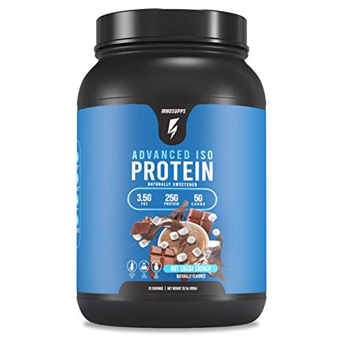 Inno Supps Advanced Iso Protein - 100% Whey Isolate Protein Powder, No Artificial Sweeteners, Low Fat, Low Carbs, 25g of Protein, Hormone Free, Gluten Free, Soy Free - 25 Servings (Hot Cocoa Crunch)