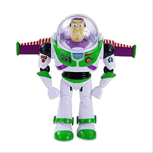 28cm Juguete 4 Figuras De Acción Hablando Buzz Lightyear PVC Modelo Juguetes Regalos para Niños Caja B