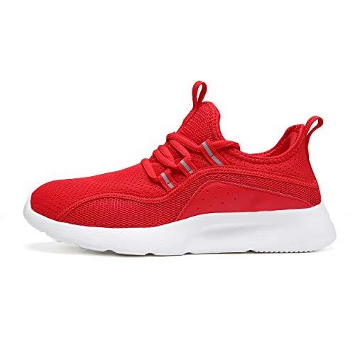 TORISKY Sneaker Herren Damen Sportschuhe Schuhe Laufschuhe Turnschuhe Fitness Gym(8991-Red39)