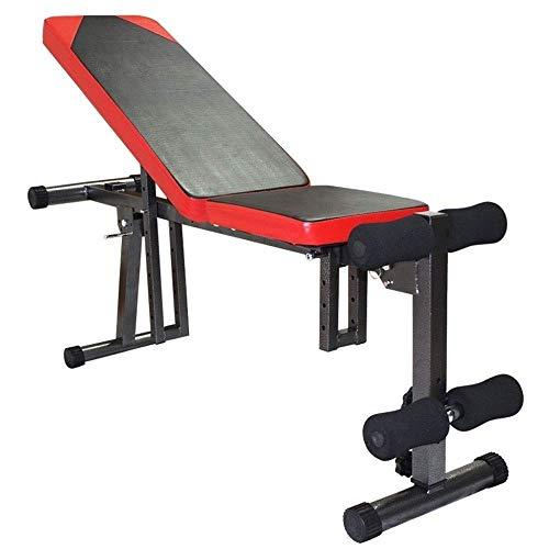 Hammer Multi-Posición Banco Utilidad de Entrenamiento de Gimnasio en casa Pesas y Entrenamiento de la Fuerza, Multifuncional Ajustable del músculo Abdominal del Consejo Inicio Equipo de la Aptitud ✅