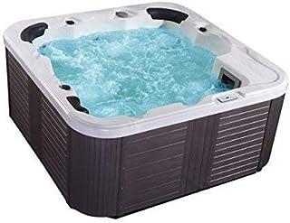 supply24 Outdoor Whirlpool Hot Tub Venedig Color Blanco con 44 Boquillas de Masaje+Calefacción+Desinfección de Ozono + Iluminación LED para 5-6 Personas para Jardín/Terraza Exterior/