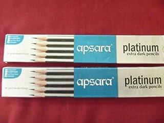 3 X 20 Apsara Extra Dark School Wooden Pencil Hb Black + 2 Sharpener + 2 Erasers Lot