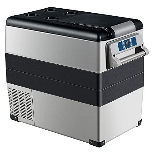 NMSLA Refrigerador de Coche portátil 55L vehículo eléctrico refrigerador refrigerador con asa y Panel de operación Congelador para Acampar para Acampar Viaje de Viaje Uso al Aire Libre