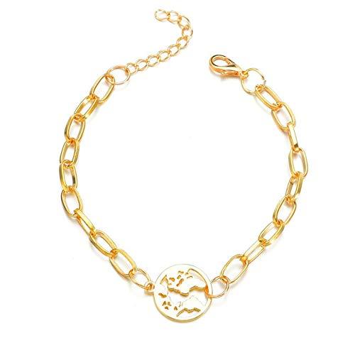 GDBVYSL 14 Stijlen Papier Clip Kerst Hanger Charm Armband Sieraden Wereldkaart Kokosnoot Boom Munt Rose Bloem Armbanden Voor Vrouwen