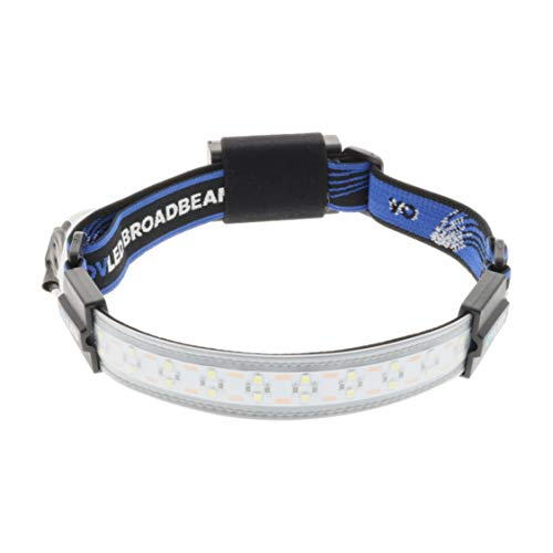 OV LED 802100 Broadbeam LED Headlamp, Ultra-Low Profile Durable Elastic Headband, Camping, Hunting, Runners, Hiking, Outdoors, Fishing, 210° Illumination, 300 Lumens, 20 Bright LED Lights, 3 AAA Battery Powered, 3 Power Settings