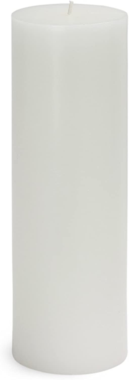 Zest Candle CPZ-093_12 12-Piece Pillar Candle, 3  x 9 , White