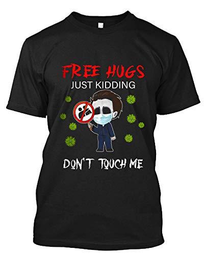 Halloween Jason #Voorhees Chibi Free Hugs Just Kidding Don't Touch Me T Shirt Gift Tee Sweatshirt Hoodie for Men Women Black