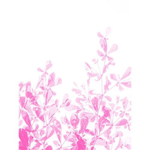 Magenta Plant Monochrome Pink Large Canvas Wall Art Print