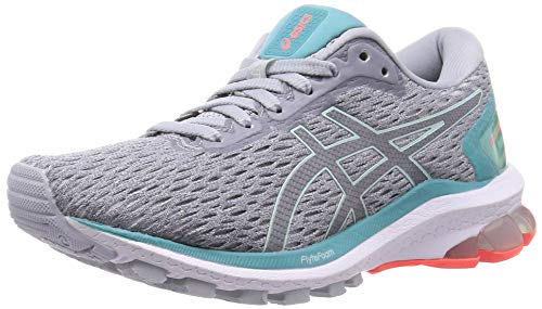 ASICS Womens GT-1000 9 Running Shoe, Piedmont Grey/Bio Mint,38 EU