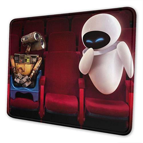Alfombrilla de ratón de pared con borde cosido antideslizante base de goma para juegos de gran tamaño, para portátil de 7,9 x 9,5 pulgadas