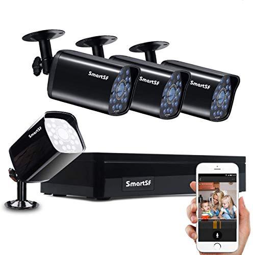 Anni CCTV 1.0 MP Kit de videovigilancia, 4CH 1080N HD AHD DVR 4x720p 1500TVL Cámara de Vigilancia, con visión Nocturna,...