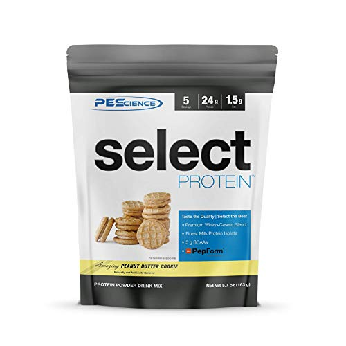 PEScience Select Low Carb Protein Powder, Peanut Butter Cookie, 5 Serving, Keto Friendly and Gluten Free