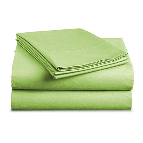 BASIC CHOICE Bed Sheet Set - Brushed Microfiber 2000 Bedding - Wrinkle, Fade, Stain Resistant - Hypoallergenic - 4 Piece (King, Lime)