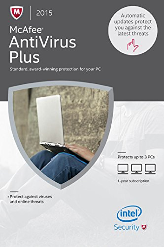 McAfee 2015 AntiVirus Plus 3 PC [Online Code]