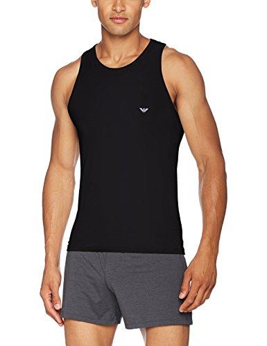 Emporio Armani Underwear Herren 110828CC729 Schlafanzugoberteil, Schwarz (NERO 00020), Medium