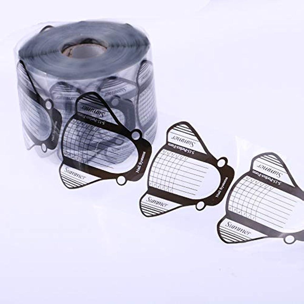 甘い消費者中央100枚高品質激安フォームジェルネイルスカルプチャースカルプチュアネイルフォームアクリル用使いやすい