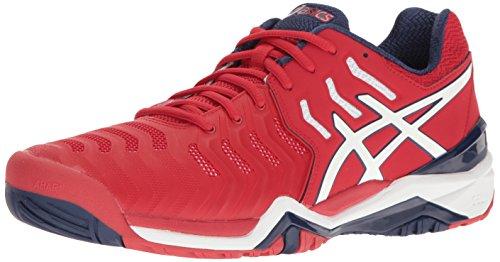 ASICS Men's Gel-Resolution 7 Tennis Shoe, True Red/White/Indigo Blue, 11.5 M US