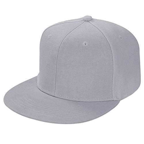 LIVACASA Basecap Snapback Herren Kappe Unisex Verstrellbar Baseball Cap für Damen Baseballkappe Sonnenschutz Täglich Cap Cappy in 6 Farben Grau