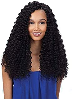 Freetress Equal 3X Pre-Loop Crochet Braid Deep Twist 16 Inch (1B)