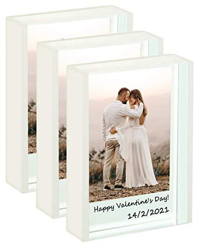 WINKINE Instax Mini Rahmen für 2x3 zoll kleines foto | 3er-Pack Durchscheinendes Weiß | Polaroid Fotorahmen für Home & Office Dekoration Tischplatte Mini Fotorahmen für Fujifilm & Polaroid Film