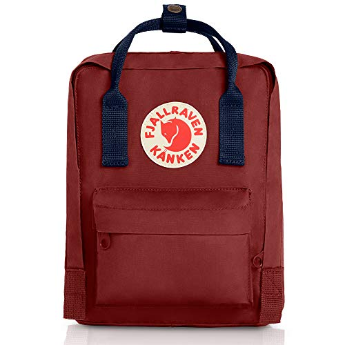 Fjallraven - Kanken Mini Classic Backpack for Everyday, Ox Red/Royal Blue