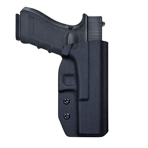 OWB Kydex Holster for Glock 17 22 31 / Glock 19 19x / Glock 23 25 32 / Glock 26 27 30s (Gen 3 4 5) Pistol Case, Glock17 Holster OWB, Waistband Outside Carry 1.5-2 Inch Belt Clip (Right Hand)