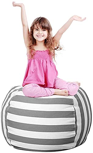 24inch Spielzeug Aufbewharungstasche Kinder Sitzsack Kuscheltier Aufbewahrung Sitzsack Spielzeug Aufbewahrungstasche mit Reißverschlus für Kleidung Spielzeug Täglichen